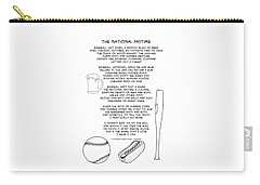 Carry-all Pouch featuring the drawing National Pastime by John Haldane
