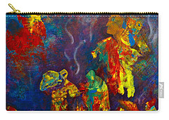 Carry-all Pouch featuring the painting Native American Fire Spirits by Claire Bull