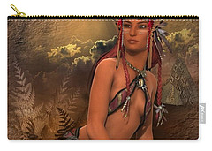 Native American Woman... Abedabun Carry-all Pouch