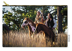 Native Americans On Horses In The Morning Light Carry-all Pouch by Nadja Rider