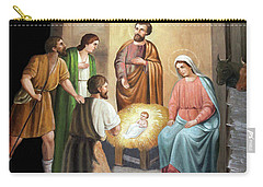 Nativity Scene Painting At Nativity Church Carry-all Pouch