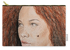 Natural Beauty With Red Hair  Carry-all Pouch