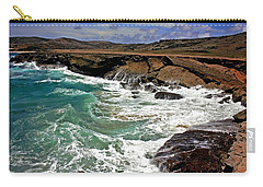 Carry-all Pouch featuring the photograph Natural Bridge Aruba by Suzanne Stout