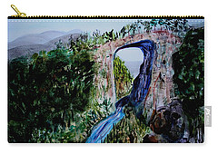 Natural Bridge In Virginia Carry-all Pouch by Donna Walsh