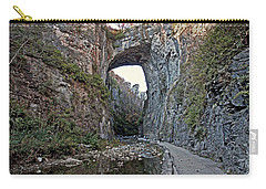 Carry-all Pouch featuring the photograph Natural Bridge Virginia by Suzanne Stout
