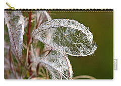 Carry-all Pouch featuring the photograph Natural Lace by Liz Alderdice