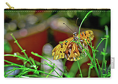 Nature - Butterfly And Plants Carry-all Pouch