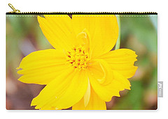 Carry-all Pouch featuring the photograph Nature Colorful Flower Gifts - Yellow by Ray Shrewsberry