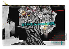 Carry-all Pouch featuring the digital art Nature Is God by Nola Lee Kelsey