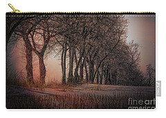 Nature Winter Bare Trees Color  Carry-all Pouch