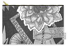 Naturemade And Manmade Shapes Carry-all Pouch by Quwatha Valentine