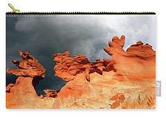Carry-all Pouch featuring the photograph Nature's Artistry Nevada by Bob Christopher