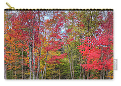 Carry-all Pouch featuring the photograph Natures Autumn Palette by David Patterson