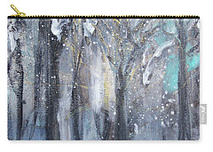 Carry-all Pouch featuring the painting Nature's Cathedral by Robin Maria Pedrero