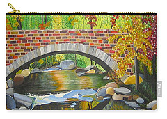 Carry-all Pouch featuring the painting Natures Eye by Donna Blossom