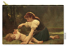 Natures Fan Carry-all Pouch by Troy CapertonWilliam Adolphe Bouguereau