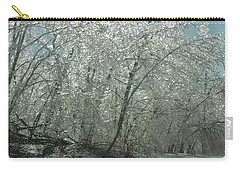 Carry-all Pouch featuring the photograph Nature's Frosting by Ellen Levinson