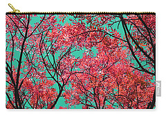 Carry-all Pouch featuring the photograph Natures Magic - Fire Red by Rebecca Harman