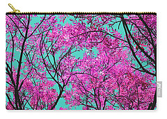 Natures Magic - Pink And Blue Carry-all Pouch by Rebecca Harman