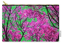 Carry-all Pouch featuring the photograph Natures Magic - Pink And Green by Rebecca Harman