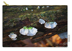 Carry-all Pouch featuring the photograph Natures Ruffles - Cascade Wi by Mary Machare