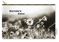 Nature's  Smile Monochrome Carry-all Pouch by Joseph S Giacalone