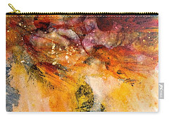 Carry-all Pouch featuring the painting Naturescape In Red by Carolyn Rosenberger