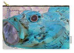 Carry-all Pouch featuring the photograph Nautical Beach And Fish #1 by Debra and Dave Vanderlaan