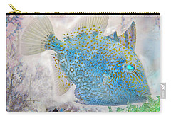 Carry-all Pouch featuring the photograph Nautical Beach And Fish #2 by Debra and Dave Vanderlaan
