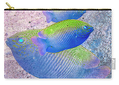 Carry-all Pouch featuring the photograph Nautical Beach And Fish #3 by Debra and Dave Vanderlaan