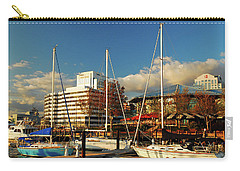 Nautical Norfolk  Carry-all Pouch by James Kirkikis