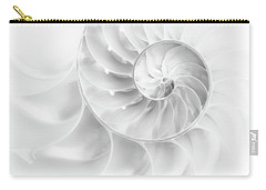 Carry-all Pouch featuring the photograph Nautilus Shell In High Key by Tom Mc Nemar