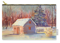 Nauvoo Winter Scene Carry-all Pouch by Rebecca Matthews