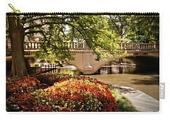 Carry-all Pouch featuring the photograph Navarro Street Bridge by Steven Sparks
