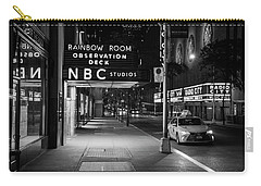 Nbc Studios Rockefeller Center Black And White  Carry-all Pouch