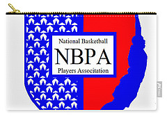Carry-all Pouch featuring the digital art Nbpa Logo Redesign Sample by Tamir Barkan