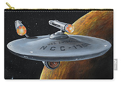 Carry-all Pouch featuring the painting Ncc-1701 by Kim Lockman