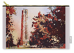 Carry-all Pouch featuring the painting Ncsu Bell-tower II by Ryan Fox