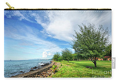 Carry-all Pouch featuring the photograph Near The Shore by Charuhas Images