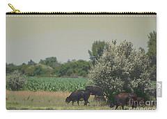 Nebraska Farm Life - Black Cows Grazing Carry-all Pouch