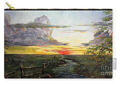 Nebraska Sunset Carry-all Pouch by Lee Piper