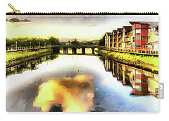 Carry-all Pouch featuring the photograph Necanium River Seaside by Thom Zehrfeld