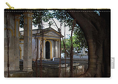 Carry-all Pouch featuring the photograph Necropolis Cristobal Colon Havana Cuba Cemetery by Charles Harden