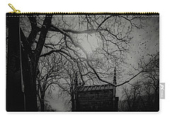 Carry-all Pouch featuring the digital art Necropolis Nine by Chris Lord