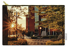 Carry-all Pouch featuring the photograph Neenah Center Sunset by Joel Witmeyer