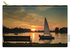Carry-all Pouch featuring the photograph Neenah Harbor Sunset by Joel Witmeyer