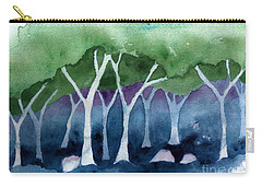 Negative Thinking Makes A Woodland Scene Carry-all Pouch