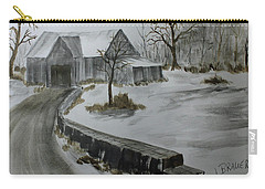 Carry-all Pouch featuring the painting Neighbors Shed by Jack G Brauer