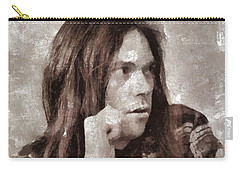Neil Young By Mary Bassett Carry-all Pouch