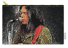 Neil Young Carry-all Pouch by Taylan Apukovska